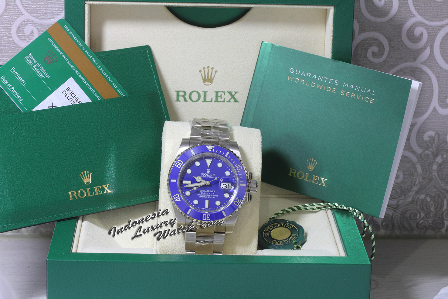 Rolex Submariner 116619LB – 18K White Gold – Blue Ceramic Bezel