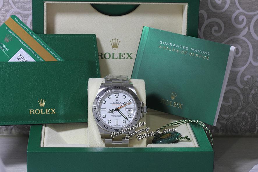 Rolex Explorer II – 216570-0001 – White Dial